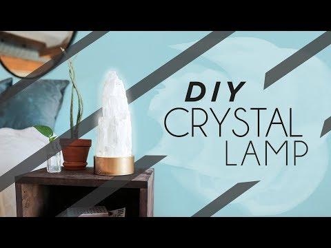 TURN A SELFIE LIGHT INTO A DIY CRYSTAL LAMP