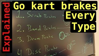 Go kart brakes explained - scrub, band, drum and disc