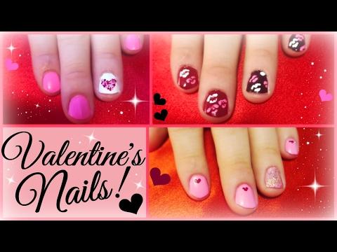 3 DIY Valentine's Day Nail Art Ideas (EASY)