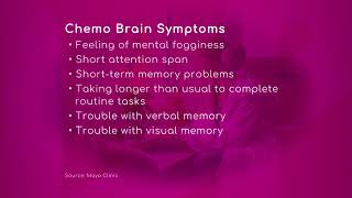 The Chemo Brain Symptoms