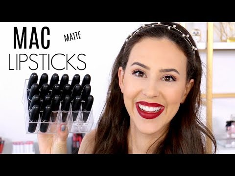 MAC Lipstick Collection || Matte Finish Review || Favorites, Swatches & Wear Test