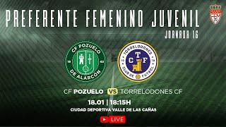 R.F.F.M. - Jornada 16 - Preferente Femenino Juvenil (Grupo 1): C.F. Pozuelo de Alarcón 4-0 Torrelodones C.F.-Altter.