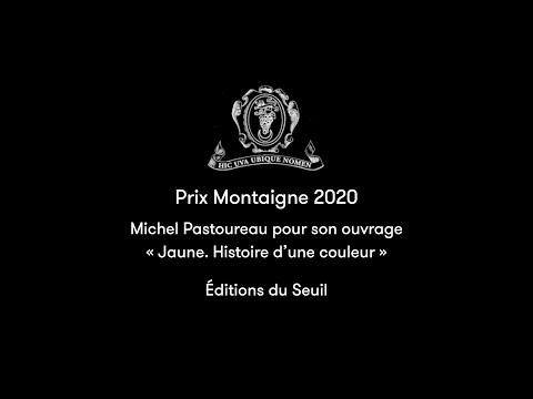 """Prix Montaigne 2020 - Michel Pastoureau pour son ouvrage """"Jaune. Histoire d'une couleur"""""""