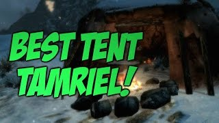 Let's Play Skyrim Survival   TENTS! #2
