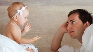 Baby argues with Daddy so angry OVER nothing   Funny Father and Baby Compilation