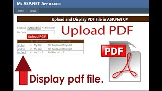 how to upload and display pdf in asp.net c#. Beginners. Swift Learn