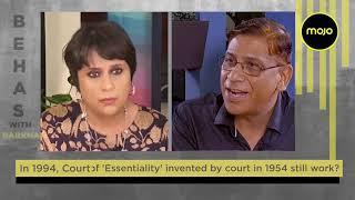 Faizan Mustafa with Barkha Dutt on Babri Judgment