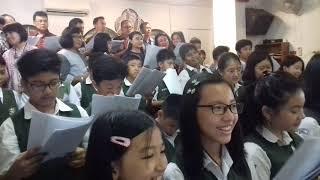 Bersyukur Kami Kepada-Mu @SD XAVERIUS 2 PALEMBANG   Koor Di Grj Hati Kudus Jln Kol Atmo Palembang