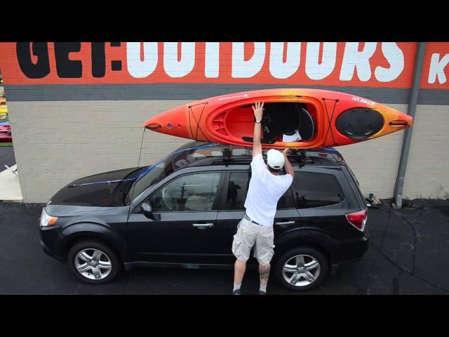 Kayak Cartopping: Using a Basic Rack or Foam Blocks