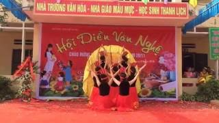 Múa Đất Việt Tiếng Vọng Ngàn đời 8A Trường THCS Hồng Hà