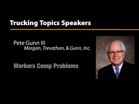 Trucking Topics 2016 - Workers Comp Problems