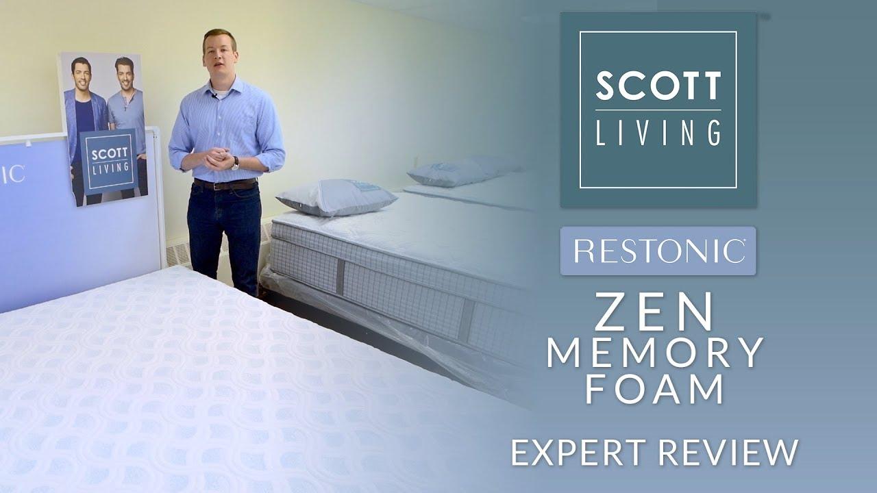 Queen Restonic Scott Living Zen Memory Foam 10 Inch Mattress