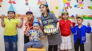 Kids Go To School | birthday Chuns Best friend's Make a Birthday Cake At Home New