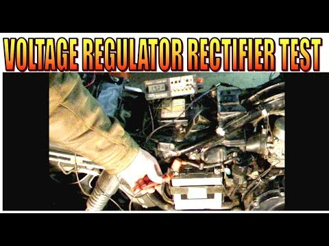 Motorcycle Voltage Regulator Charging And Rectifier Test