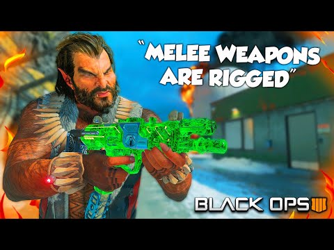 """MELEE WEAPONS ARE RIGGED"" (Black Ops 4 Funny Moments & Rage Reactions)"