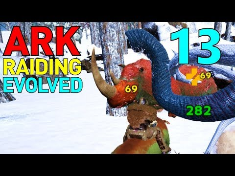 7] Frogs, Mammoths, Anklyos, and Doeds OH MY!!! (ARK Raiding