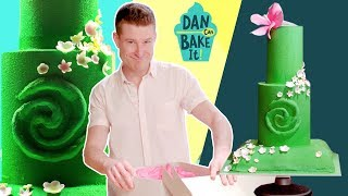 Dan Bakes a Disney-Inspired MOANA Cake  ️Challenge #9