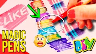 DIY Magic PENS 🖍  How to make COLOR CHANGING MARKERS