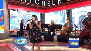 Lea Michele Performs 'Anything's Possible' - LIVE