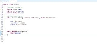 Java Programming Tutorial - 14- Creating a Class, Instance Variables, and a Constructor