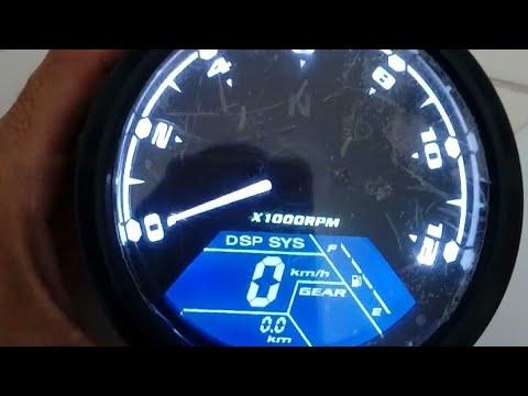 Prueba de speedometer odometro Tacometro digital universal para motocicleta