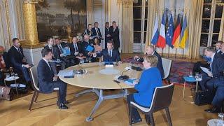 Первая публичная встреча Зеленского и Путина