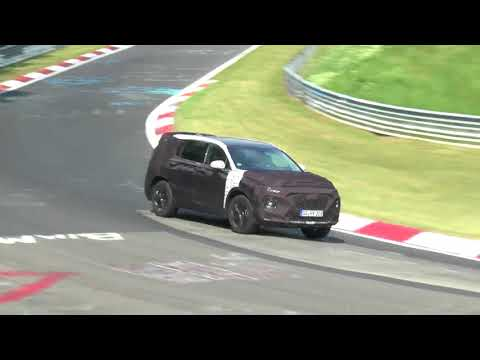 2019 Hyundai Santa Fe Takes On The Karussell In Newest Spy