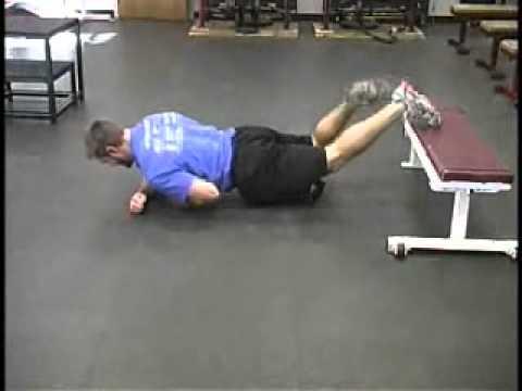contralateral oscillatory prone hip flexor  exercise