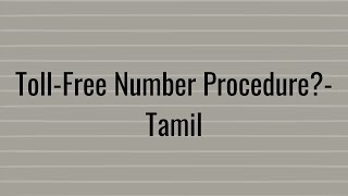 How to get Toll-Free Number for your business?-Tamil
