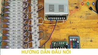 Hướng Dẫn đấu Nối LED HẮT 7 MÀU Nháy Theo Nhạc - LEDCF Việt Nam