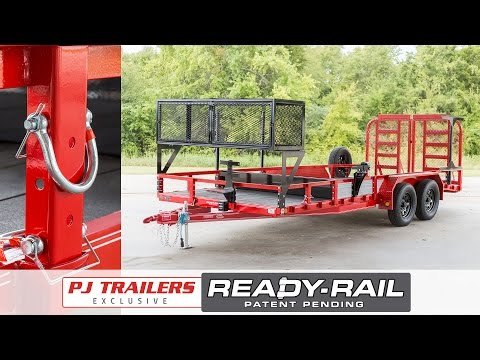 2017 PJ Trailers 60 in. Single Axle Channel Utility (U6) in Elk Grove, California