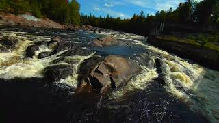 DJI FPV drone shots river and bridges, Shannon, Qc фото