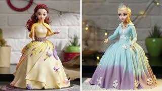 How To Make A Disney Princess Sisters Cake | Princess Doll Birthday Cake Recipes | So Yummy Cake