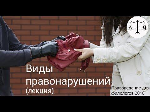 Виды правонарушений (лекция)