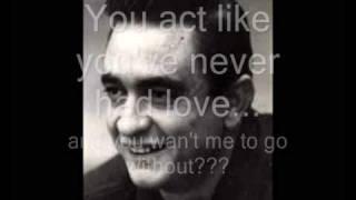 Johnny Cash - One (U2 Cover - With Lyrics)