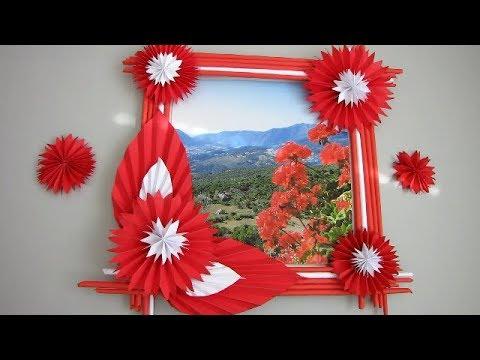 DIY Wall decor frame | Newspaper craft - DIY TUBE
