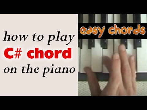 C# Piano Chord - how to play C sharp major chord on the piano