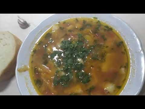 Суп с галушками./ Встречаем папу./