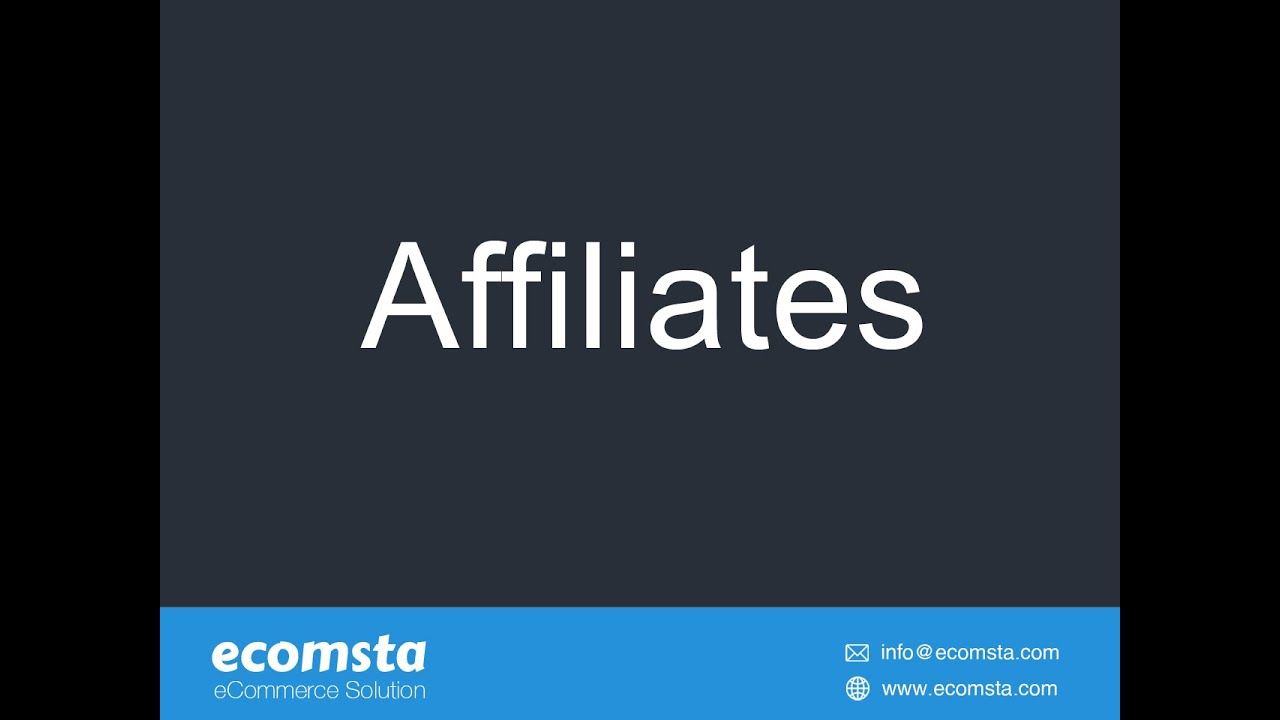 How to manage affiliates in eComsta?