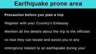 Safety Preparation when traveling to an earthquake-prone Region By - Thomas Salzano