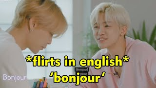 nct speaking english but there's only one braincell