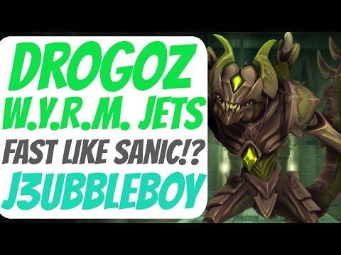 Paladins Drogoz Gameplay - Wyrm Jets Legendary - Frog Isle Redo