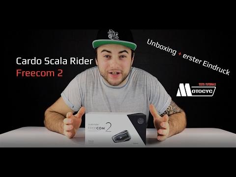 Cardo Scala Rider Freecom 2, Unboxing + erster Eindruck + 10€ Gutschein (deutsch)