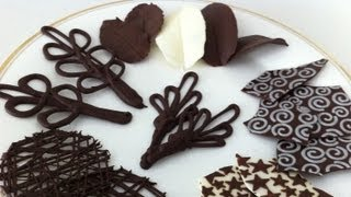 Шоколад, how to make chocolate garnishes decorations tutorial PART 2 how to cook that ann reardon
