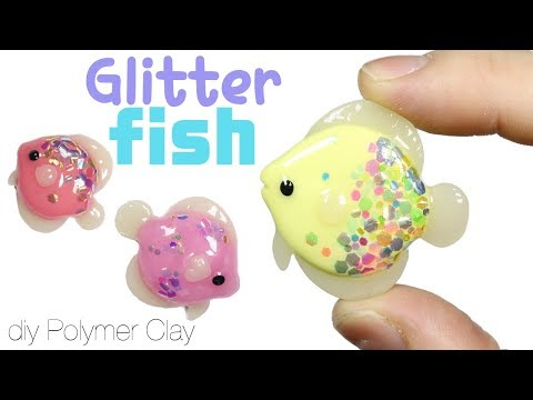 How to DIY Glitter Scale Fish Polymer Clay Tutorial