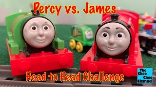 Head To Head Challenge Percy Vs. James - Thomas & Friends Toys World's Strongest Engine