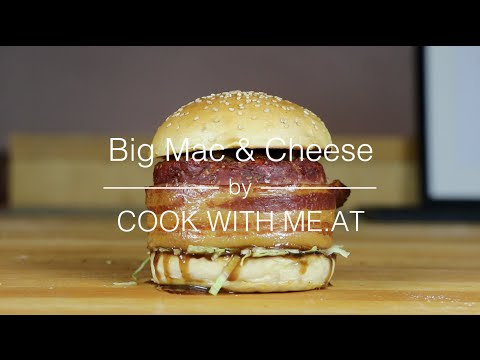 Big Mac & Cheese - Beer Can Burger stuffed with Macaroni and Cheese - COOK WITH ME.AT