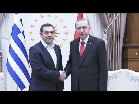 Συνάντηση του πρωθυπουργού Αλέξη Τσίπρα με τον Πρόεδρο της Τουρκίας Ρ.Τ. Ερντογάν