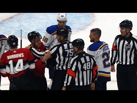 After scrum Mark Borowiecki enraged did Kyle Brodziak bite him?