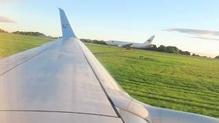 Thomson 737-800 Start up and Takeoff from East Midlands Airport